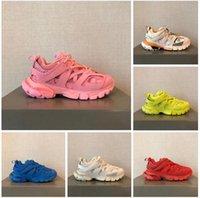Luxurys Designer Schuhe Herren Track 3.0 Sneakers 100% Leder Trainer Frauen Mesh Nylon Gedruckt 3M Triple S Platform Casual Shoe mit Box