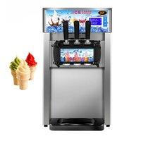 Ice Cream Making Machine Commercial Soft Serve Maker Small Desktop Electric Vending