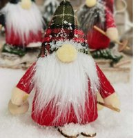 Chuangda New Christmas Skiing Dwarf Faceless Doll Goblin Puppet Christmas Tree Decoration 317
