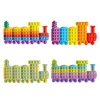 Fidget Toys Christmas Christmas Puzzle Mental Arytmetic Toy Train Silikonowa Płyta Gry Płyta Picture-Child Interactive Decompression Toy
