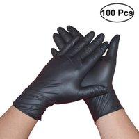 Disposable Gloves 100PCS Black Latex Powder Free Exam Tattoos - Size
