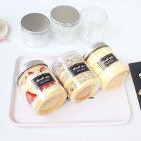 10pcs de haute qualité aluminium feuille couvercle en plastique emballage emballage crème glacée gâteau pâtisserie mousse tasse cuite de boisson froide jetable st