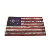 2-я поправка Винтаж Американский флаг открытый баннер флаг 90см * 150см полиэстер пользовательских США колледжа баскетбол флаги DHD6556