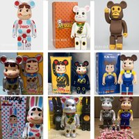 20styles 28CM PVC Bearbrick Movie Games Figures ABS Starry Sky Fashion bear Chiaki figures Toy For Collectors Be@rbrick Art Work model decoration toys gif