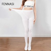 FENNASI Nylons Lady Colored Tights Dance Ballet Sticky Woman Compression White Tights Black Pantyhose Plus Size Dropshipping X0521