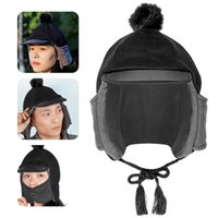 Cycling Caps & Masks Unisex Warm Trooper Earflap Winter Flaps Ski Hat Bomber Hats Large Coverage Trapper For Outdoor Mens Women 2021