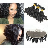Rabake 8A Grade Indian Virgin Hair Bundles with Frontal 100% Raw Indian Unprocessed Human Hair Weave Bundles with 13x4 Lace Frontal Closures