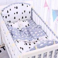 Set di biancheria da letto baby culla set per bambini paraurti materasso letto morbido materasso copertura elastica foglio fumetto decorazione della camera nata