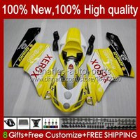 Bodys de motocicleta para Ducati 749-999 749S 999S 749 999 2003-2006 ABS Bodywork 27.6 749 999 S R 2003 2004 2005 2006 749R 999R 03 04 05 06 Fairings OEM Kit luz amarela