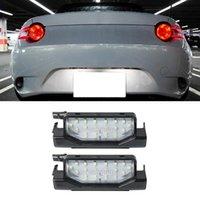 ضوء العمل 2PCS لوحة ترخيص السيارة LED 18SMD مصباح الرقم الخلفي ل RX-8 2004-2021
