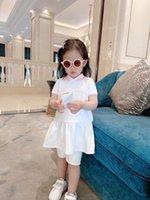 2021 Haute Qualité Summer Baby Baby Girl Collier Collier Coton Robe Enfant Vêtements pour enfants 2-14 ans
