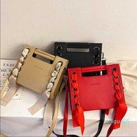 Handbags s Fashion hand women's fashion Single Shoulder Messenger Bag chic chain small square rivet
