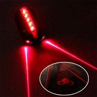 30 # Bicycle LED Taillight Seaillight Silver Light 5 LED + 2 Laser Night Mountain Bike Light Light Lampada posteriore ByCicle 451 x2