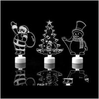 Decorations Festive Supplies Home & Garden3D Led Night Lights Lamp Bedroom Decor Santa Claus  Snowman  Towel  Christmas Tree Flash Light Wedd