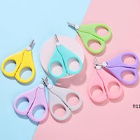 Baby Nail Scissors Short Household Sundries Kids Nails Care Cleaners Safety Stainless Steel Round Head ScissorEWE5553