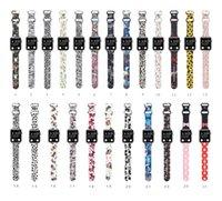 Bande de bracelet en silicone douce bande dessinée mignonne pour la montre Apple Iwatch série 6 2 3 4 5 38mm 42mm 40mm 44mm bracelet