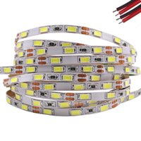 Şeritler 5 m LED Şerit Işık 5730 12 V DC 60LEDS / M Kutusu Arka Işık Esnek Bant 5630 Su Geçirmez Gece Işıkları 5mm PCB