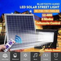 Solar Lamps Max 300LED 300W LED Light For Garden Lamp Music Flood Bluetooth Speaker IP67 Waterproof 4 Mode