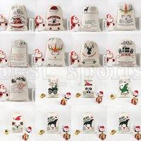 Sacs-cadeaux de Noël Sac de toile 50 * 70cm Sans Sana Sac Sac à cordon ZZA3406