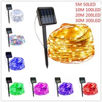 Solar Lamps String Fairy Lights 30m 300LED   20M 200 LED Waterproof Outdoor Garland Power Lamp Christmas For Garden Decoration