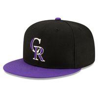 Hiphop Rockies CR Lettera Bone Aba Reta New Fashion Snapback Hats Sport Baseball Caps da uomo Donne