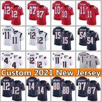 Mac Jones Custom Hombres 1 Cam Newton 11 Julian Edelman Patriot 24 Stephon Gilmore 54 Dont'a Highton Jarrett Stidham Jerseys