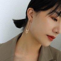 Stud Korean Fashion Large Pin Earrings For Women Accessories Bohemian Jewelry Christmas Gift Vintage Stainless Steel Men Eardrop