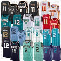 2021 Ja 12 Ja 12 Morant Trae 11 Jeune Jersey Jersey Basketball Lamelo 2 Ball Noir Jerseys Mesheys Rétro