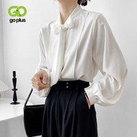Camicia in stile coreano Top in chiffon camicetta donna 2021 farfallino colletto camicie bianche Blusas de Mujer Chemise femme c10669 Camicette da donna