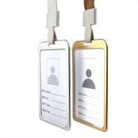 품질 알루미늄 작업 ID 카드 홀더 넥 밧줄 ID 배지 홀더 엠 알릴 허가 패스 홀더에 대 한 도매 가격