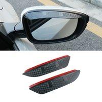 For Honda Accord 2003-2021 Auto Car Stickers Side Rear View Mirror Rain Visor Carbon Fiber Texture Eyebrow Sunshade Snow Guard Cover 2pcs