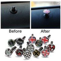 2 stücke Kohlefaser Zinklegierung Türschloss Pin für Mini Cooper S One JCW Clubman Countryman R53 R55 R56 R57 R58 R59 R60 R61 F56 F571