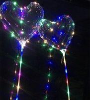 LED Bobo Ballon Clignotant Coeur de Coeur en forme de coeur en forme de ballon transparent 3M String lumières de Noël fête de mariage décorations enfants jouet 02