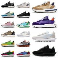 Sacai x Nike LDWaffle ldv waffle daybreak running Zapatos casuales para hombre Summit White Black Nylon plataforma Mujer hombre zapatillas de deporte deportivas de diseñador