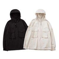 Мужчины дизайнерские толстовки ретро классическая куртка призрак серия комфортабельный дышащий пальто белый черный значок Arm буквы вышивка кнопки украшения весенние куртки