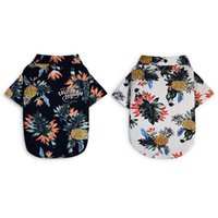 Dog Apparel Shirts Cotton Summer Beach Clothes Vest Short Sleeve Pet Floral T Shirt Hawaiian Tops For Small Large Dogs Chihuahua