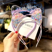 YEABIU Girls Cat Ears Headband Kids Hair Accessories Scrunchie Baby Hairbands Children Headwear Princess Christmas Gift 1440 B3