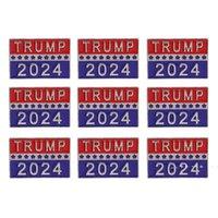Trump 2024 Presidential Election Brooch Party Supplies U.S. Patriotic Republican Campaign Metal Pin Badge EWD10052