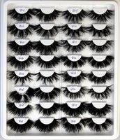 10pairs 25 mm mink cílios com cílios fofos dramáticos confusos longos falsos pilhas hes maquiagem atacado item granel