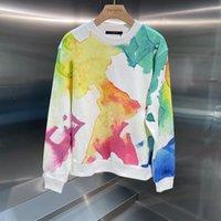 Queda mais recentes mulheres blusas moda tintura pintura pintura feminina suéter ao ar livre estilo rua personalidade meninas hoodies