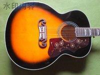 선적 새로운 어쿠스틱 기타 SJ200 대 일몰 색상 43 인치 어부 픽업 일렉트릭 기타 홍요
