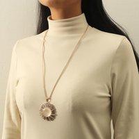 Chains European And American Fashion Long Taiyanghua Sweater Chain All-match Rhinestone Accessories Pendant