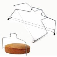 Doppeldrahtkuchen Cutter Slicer einstellbar 2 linie Edelstahl DIY Butterbrotteiler Konditor Messer Küche Backwerkzeuge