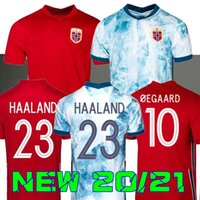 20 21 Norwegen Fußball-Trikots 2020 2021 Norueuga Haaland Odegaard Berge King Camisetas de Fútbol Nationalmannschaft Fußballuniformen Thailand