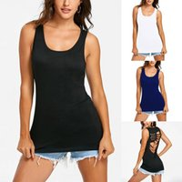 Women's Tanks & Camis Tank Top Sexy Crop Vest Sleeveless Slim Loose O-neck Solid Color For Women Summer Female Clothing Ropa Mujer