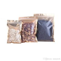One Side Clear Plastic Seal Bag Gold Inlay Aluminum Foil Bag Coffee Herbal Tea Packaging Pouch Hot EDC Bag