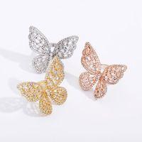 Engagement Rings for Women Luxury Designer Ring Wedding Love Jewelry Iced Out Diamond Butterfly bijoux de de luxe femmes