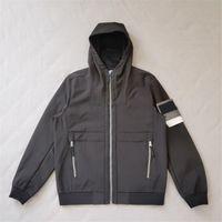 Fleece Halten Sie warme mit Kapuze Männerjacken Superior Qualität Paar Soft Shell Jacket Outdoor Sport Jogging Oberbekleidung Einfache Stickerei Abzeichen