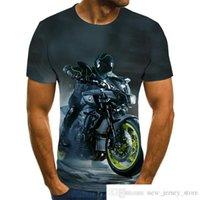 Custom Own MARCA 2021 NUEVA CAMISETA GRÁFICO DE MOTORYCLE CAMISETES Hombre Hombre Punk Tops Racer 3D Hombre Hombre Camiseta Moda de verano O-Cuello Camisa Tallas Tallas StreetwearSoccer