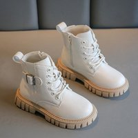 Boots For Children Autumn Winter Leather Kids School Boy Girls Shoes Fashion Boys Motorcycle Ankle Waterproof